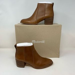Madewell NWB Asher Leather Ankle Boots, Sz 6